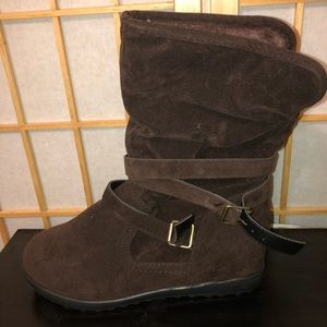 Soft Material Brown Booties